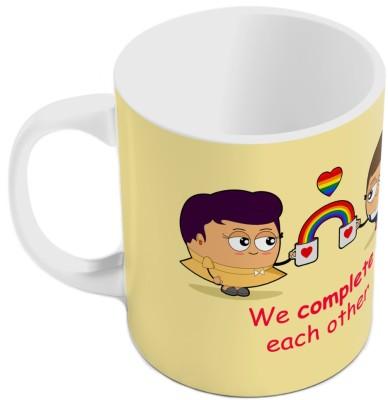 Little India Cream Color Romantic Printed Coffee  814 Ceramic Mug