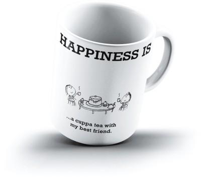 Ucard Happiness Is1479 Bone China, Ceramic, Porcelain Mug