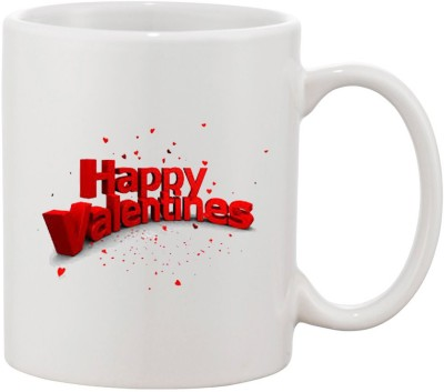 Elli Gifts Happy Valentine day coffee mug D1 Ceramic Mug