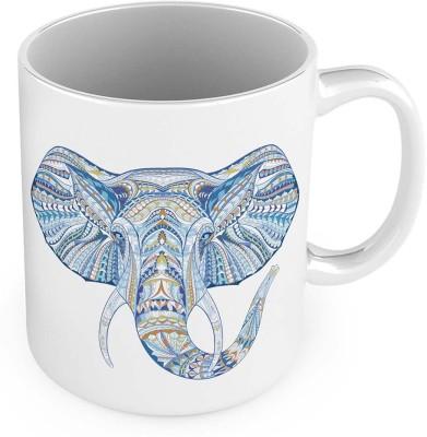 Kiran Udyog Elephant Design Printed Delightful Fancy Cofee  555 Ceramic Mug