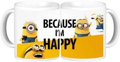 Shopmillions Because M Happy Ceramic Mug