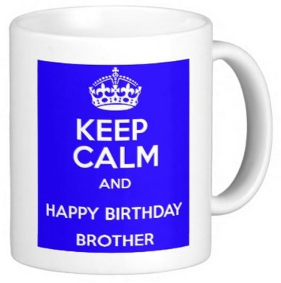 Exoctic Silver Brother's Bhai Happy Birthday 011 Ceramic Mug
