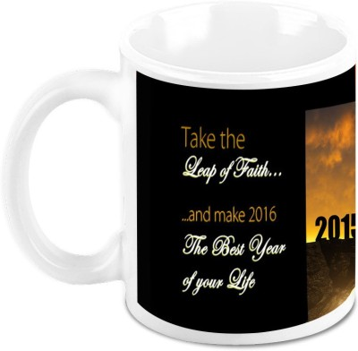 HomeSoGood Lets Leap Into New Year Ceramic Mug