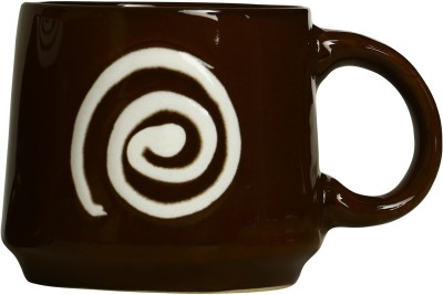 Caffeine Coffee  in Green & White Doodle Platform (Set of 1) Ceramic Mug