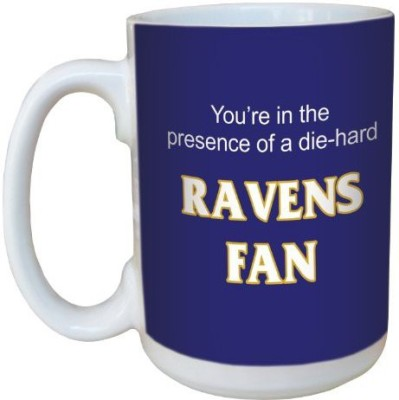 Tree-Free Greetings Greetings lm44109 Ravens Football Fan Ceramic  with Full-Sized Handle, 15-Ounce Ceramic Mug