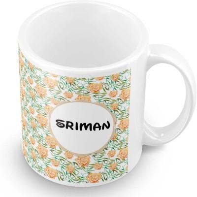 posterchacha Sriman Floral Design Name  Ceramic Mug
