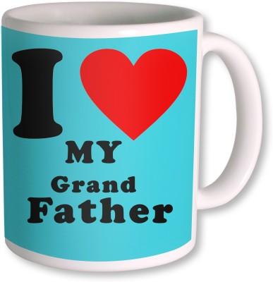 PhotogiftsIndia I Love Grand Father Colorfull Ceramic Mug