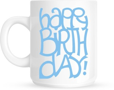 Hainaworld Happy Birthday Typography Ceramic  Ceramic Mug