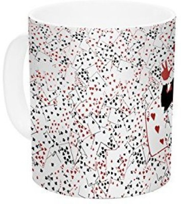 Kess InHouse InHouse Kevin Manley American Harley Batman Villain Ceramic Coffee , 11 oz, Multicolor Ceramic Mug