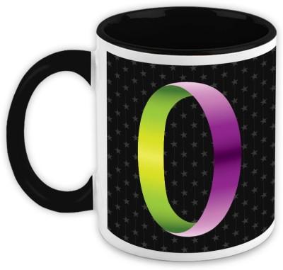 HomeSoGood Chromatic Duo Alphabet O Ceramic Mug