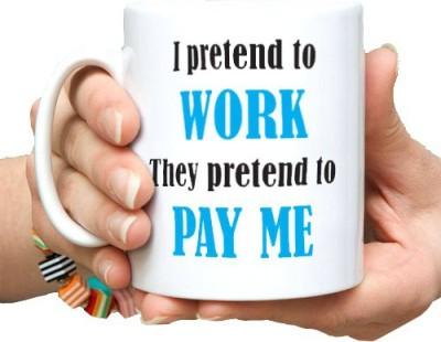 exciting Lives I Pretend To Work  Ceramic Mug