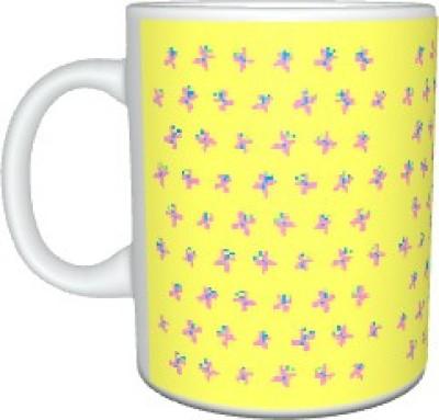 Creatives Pink Butterflies Ceramic Mug