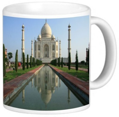 Rikki Knight LLC Knight Ceramic Coffee , Taj Mahal, Agra, India Ceramic Mug