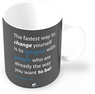 Thinkpot the Fastest Way Change Yourself - Reid Hoffman, Linkedin Ceramic Mug