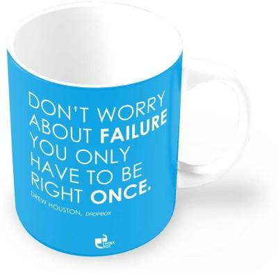 Thinkpot Don?T Worry about Failure - Drew Houston , Dropbox Ceramic Mug