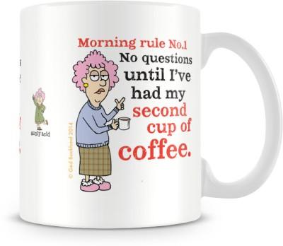 Tashanstreet Aunty Acid No Questions Ceramic Mug
