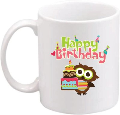 ONLY OWL Gift Happy Birthday OWL638 Magic Ceramic Mug