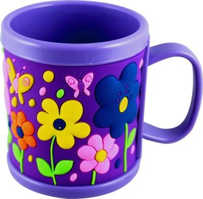 Radius Purple color embossed cartoon mug for kids Plastic Mug