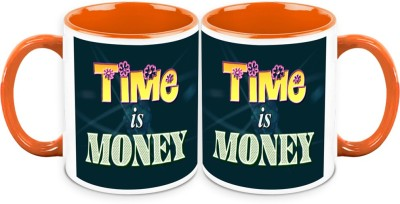 HomeSoGood Time Is Money Office Quote Ceramic Mug
