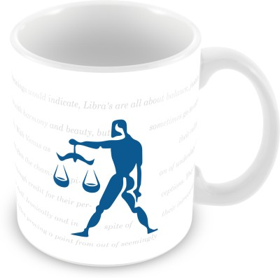 Prinzox Libra Zodiac sign printed Ceramic Mug