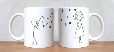 StyBuzz Kiss Of Love Couple Porcelain Mug