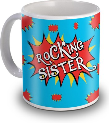 Sky Trends Rocking Sister Gifts For Birthday Ceramic Mug