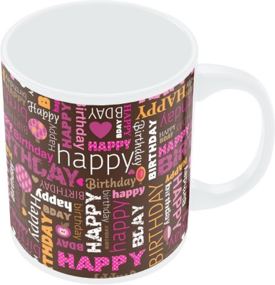 PosterGuy Happy Birthday Pattern Quirky Porcelain Mug