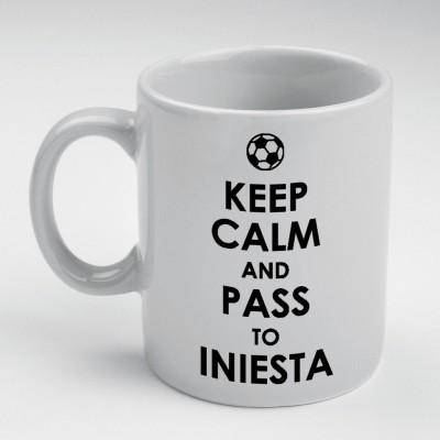 Prokyde Prokyde Keep Calm & Pass to Iniesta  Ceramic Mug