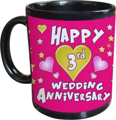Sajawat Homes 3rd Wedding Anniversary Coffee Ceramic Mug