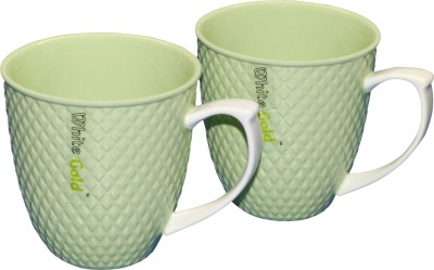 White Gold WG-907 Green Porcelain Mug