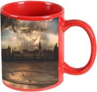 Printland Printland City Life Red Coffee 350 - ml Ceramic Mug(350 ml) best price on Flipkart @ Rs. 349