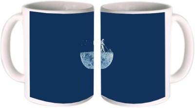 Shopkeeda Moon Ceramic Mug