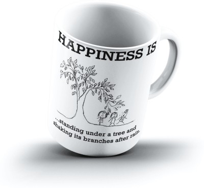 Ucard Happiness Is2051 Bone China, Ceramic, Porcelain Mug