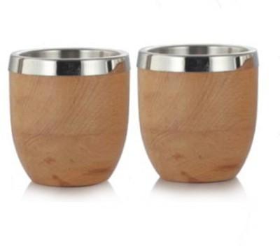 Arttdinox Love Stainless Steel, Wood Mug