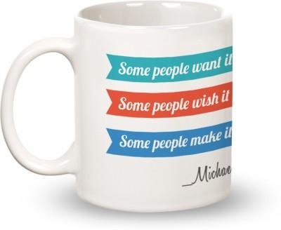 Posterboy Make it happen - Michael Jordan Ceramic Mug
