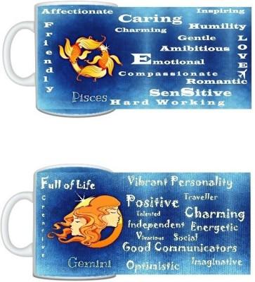 CreativesKart Zodiac Pisces (M) Gemini (F) Compatibility  Ceramic Mug