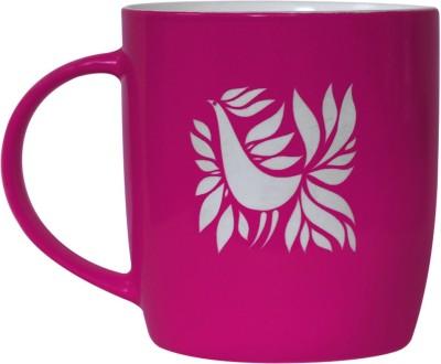 Studio Pandora Pink Feathers Ceramic Mug