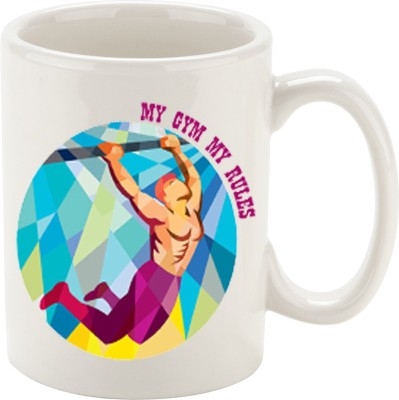 Oh Fish MY GYM MY RULES GRAPHIC PRINTED COFFEE Ceramic Mug