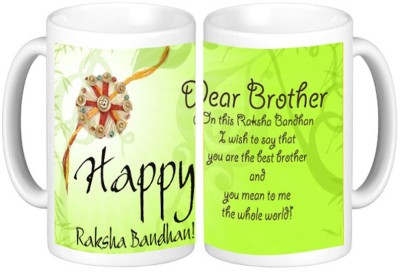 Shopmillions Gift for Brother On Rakshabandhan Ceramic Mug
