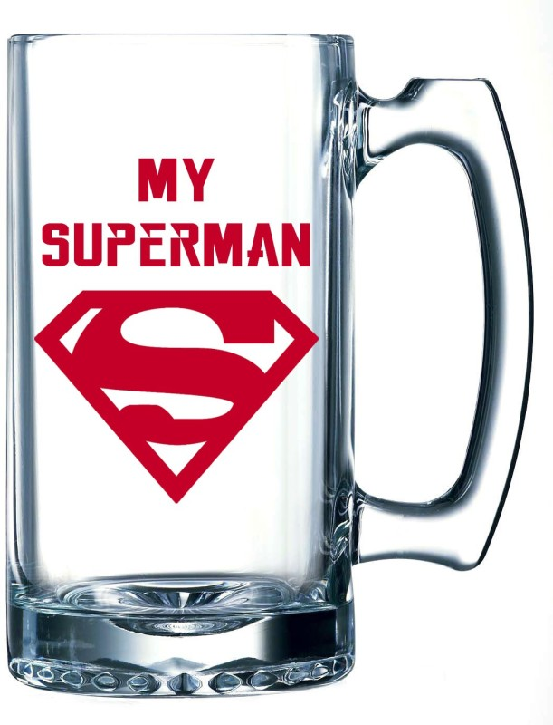 10 Am My Superman Beer Glass Mug(355 ml)