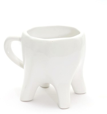 ThinNFat Tooth  Pack Of 1  (233Ml) Ceramic Mug