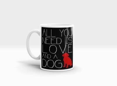 Hainaworld Love and a Dog Coffee Ceramic Mug