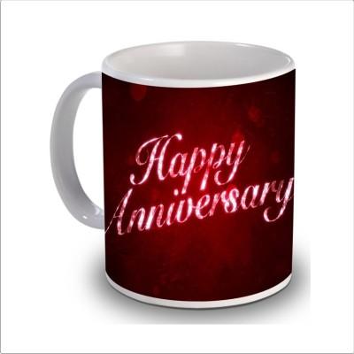 Print Hello happy anniversary 55 Ceramic Mug