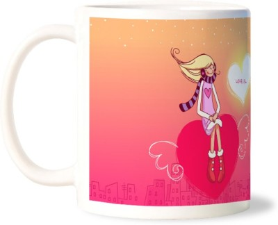 Lovely Collection Love is Being On Top Ceramic Mug