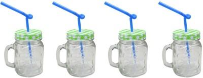 Blue Birds USA Homeware Straw Jar Glass Mug