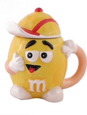 Emerge Yellow M &M Porcelain Mug