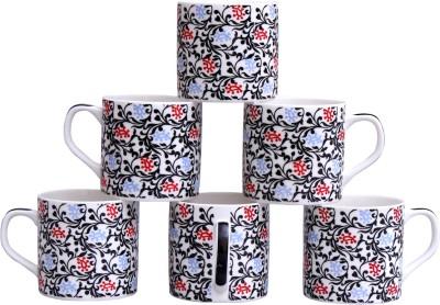 Pearl Branch-6 Cups Set Bone China Mug