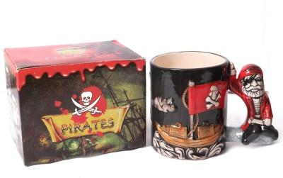 Emerge Nautical Pirate Porcelain Mug