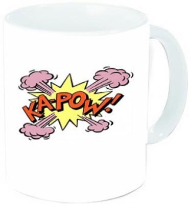 rawkart Round Kapow mug Ceramic Mug