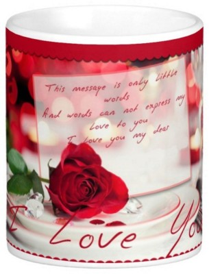 Exoctic Silver Love Romantic Quotes 004 Ceramic Mug